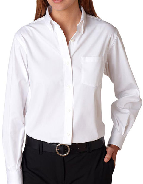 Van Heusen Ladies' Long Sleeve Blended Pinpoint Oxford