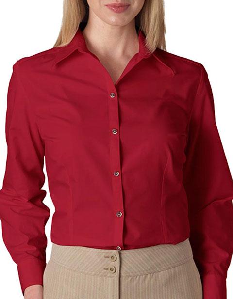 V0114 Van Heusen Ladies' Long-Sleeve Silky Poplin