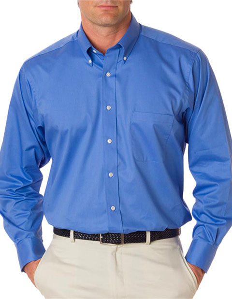Van Heusen Men's Long-Sleeve Dress Twill