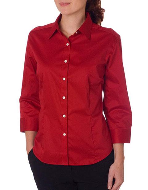 V0527 Van Heusen Ladies' 3/4-Sleeve Dress Twill