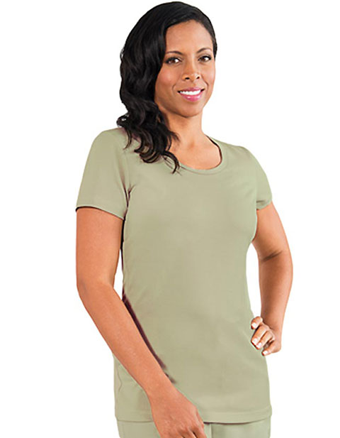 Barco Verite Tria Women's Short Sleeve Tee with Scoop Neck