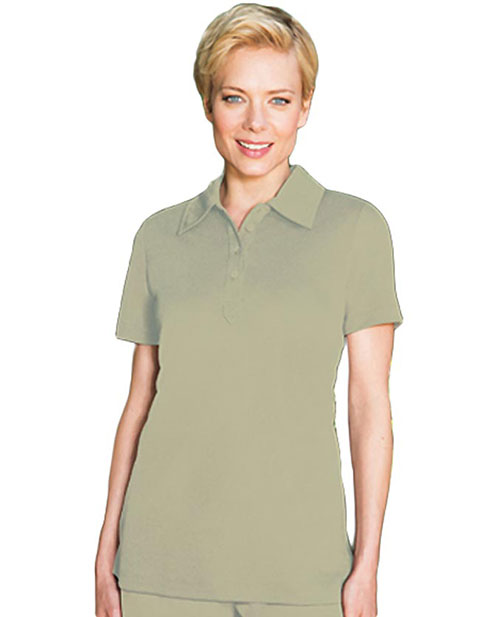 Barco Verite Donata Women's Short Sleeve Polo with Four Buttons