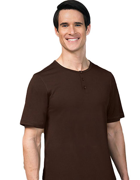 Barco Verite Fabrizio Men's Short Sleeve Henley Tee w/ Three Buttons
