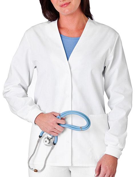 White Swan Fundamentals Women Cardigan Scrub Jacket