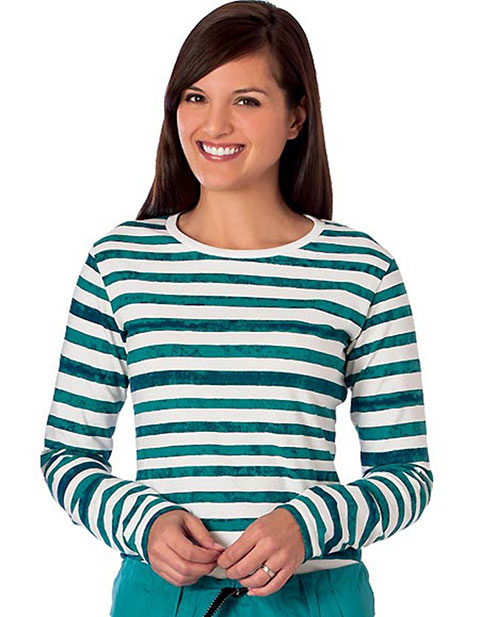 White Swan Fundamentals Ladies Striped Layering Long Sleeve