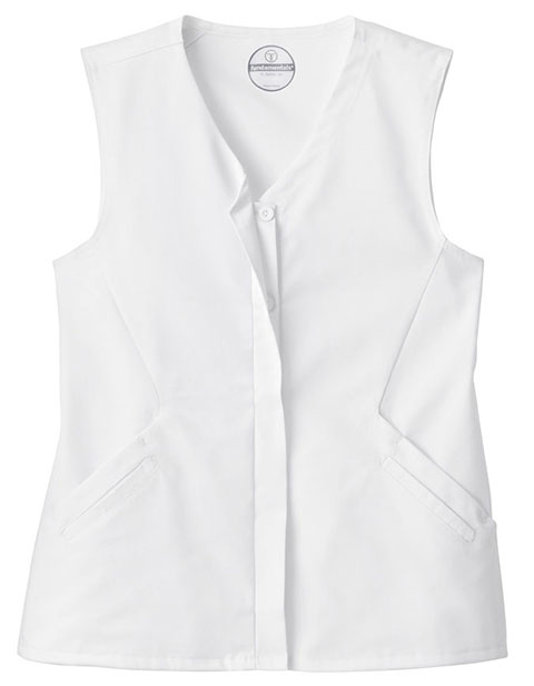 White Swan Fundamentals Women's Hidden Placket Button Front Vest