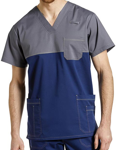 Whitecross Allure Men's Solid Scrub V-neck Nursing Top