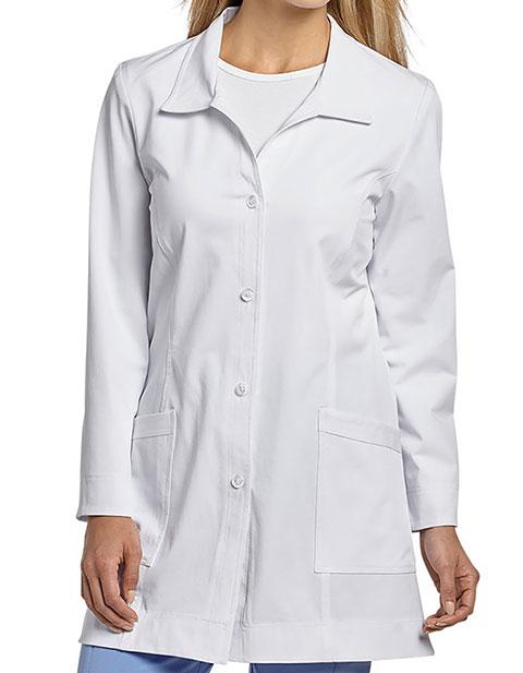 White Cross Marvella Women's Princess Seam Short Labcoat
