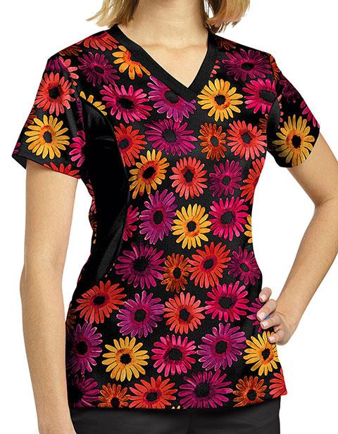White Cross Women's Arizona V-Neck Printed Scrub Top