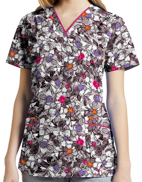 White Cross Women's Soft Embrace Printed V-Neck top