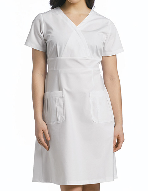 White Cross Women's Mockwrap Neckline Dress