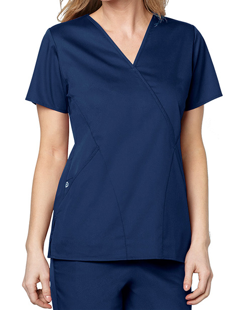Wink Scrubs Women's Mock Wrap Nursing Scrub Top