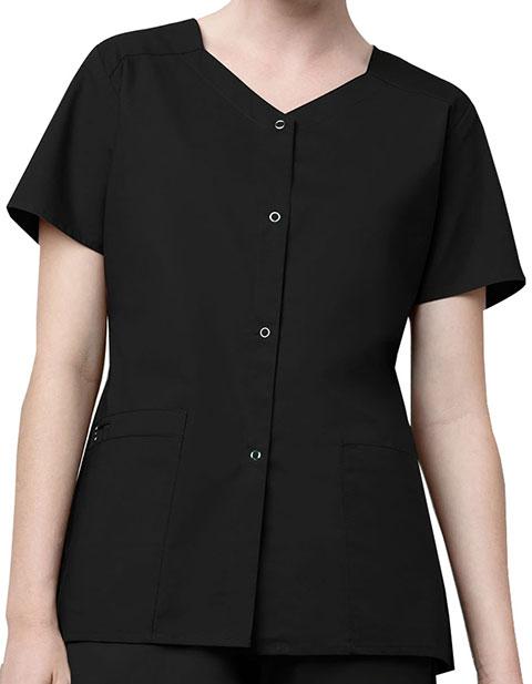 WonderWink WonderWork Women's Short Sleeve Snap Jacket