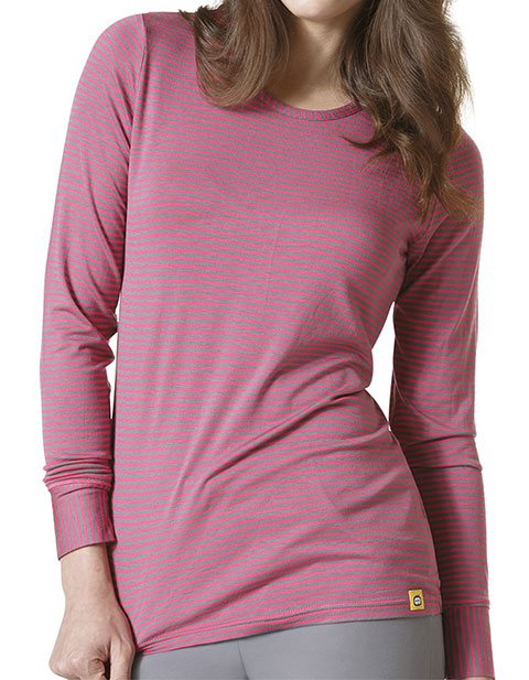 Wonder Wink Layers Women's Long Sleeve Striped Tee