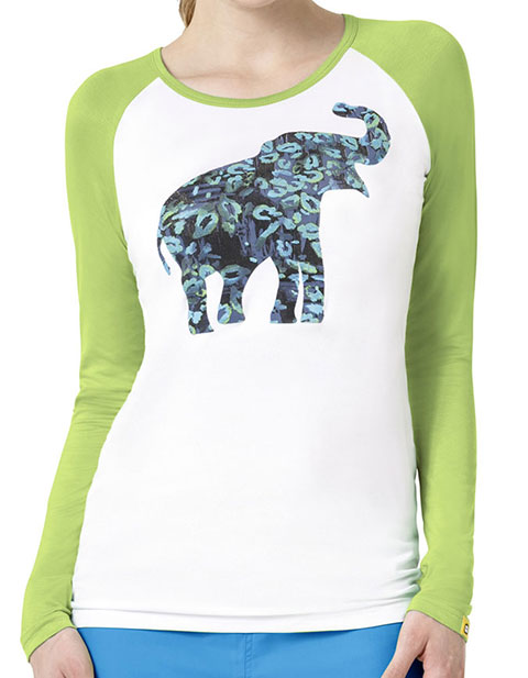 WonderWink Layers Women's Wild Paws Round Neck Tee