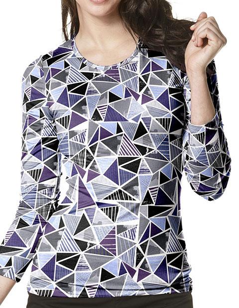 WonderWink Layers Women's Silky Looking Glass Printed Tees
