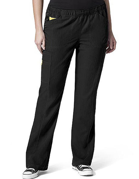 Wink Scrubs Petite WonderWink Plus Boot Cut Cargo Nurse Scrub Pants