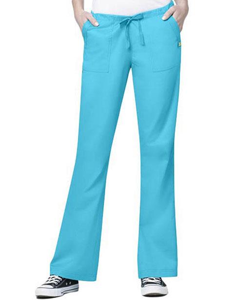Wink Scrubs Women Petite Utility Flare Pants