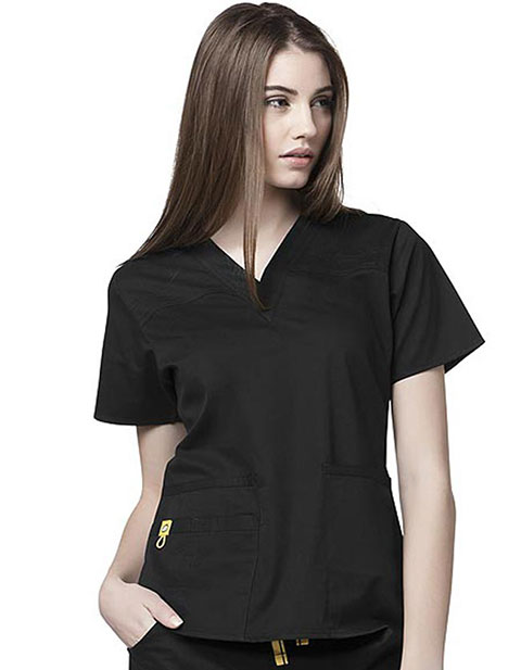 Wink Scrubs Women Fashion V-Neck 5-Pocket Nursing Top