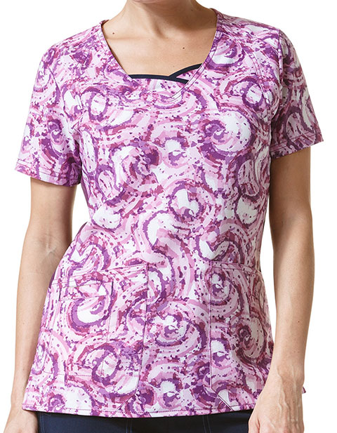 WonderWink Four-Stretch Women's Iris Curve-Centric Fashion Top