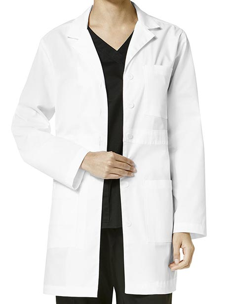 Wonderwink WonderWork Women's Basic Button Front Lab Coat
