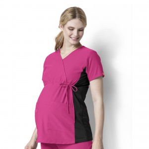 Wink Scrubs Women's Maternity Mock Wrap Tops (WI-6445)