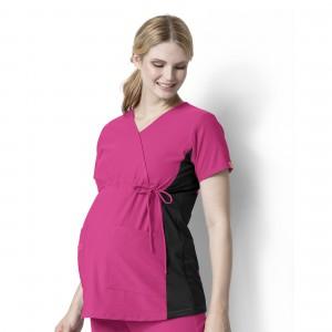 Wink Scrubs Women's Maternity Mock Wrap Tops (WI-6445)