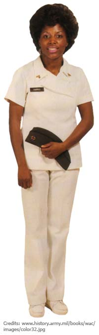 6416e414f03 Uniform pants, which were specially worn in the field, became a thing of the  past as pantsuits were authorized also as duty uniforms in medical  facilities, ...