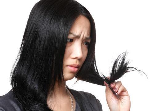 woman have hair problem