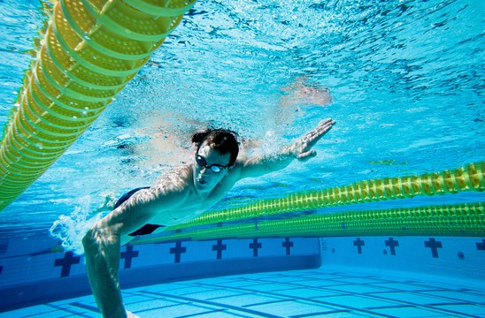 Swimmer Under Water in Pool